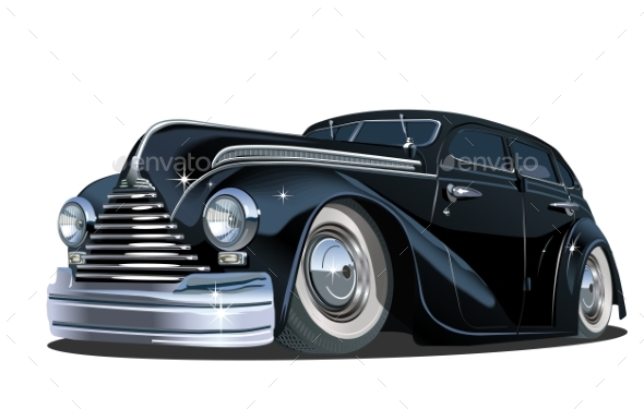 GraphicRiver Cartoon Retro Car 21184452