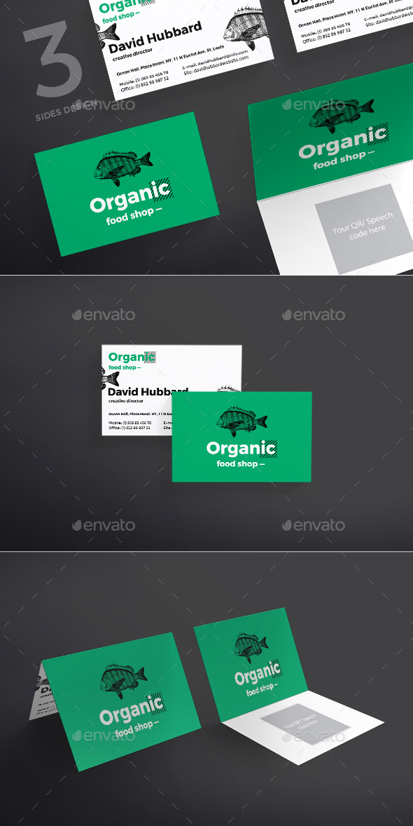 organic food business card by ambergraphics graphicriver