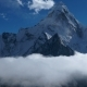 The Movement of Clouds Over the Mountain Ama Dablam - VideoHive Item for Sale