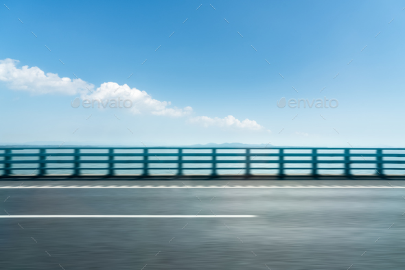 road motion blur background - Stock Photo - Images