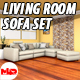 Living Room Sofa Set - 3DOcean Item for Sale