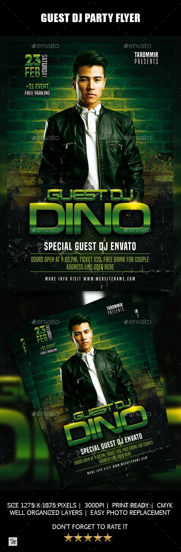 GraphicRiver Guest DJ Party Flyer 21173814