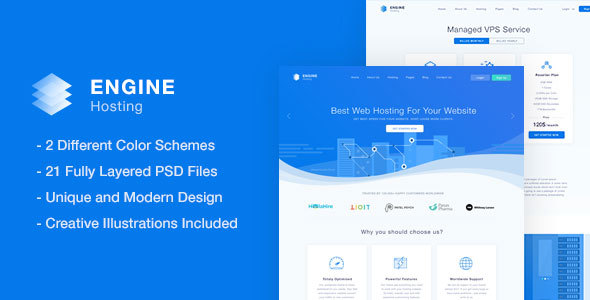 Engine Hosting - PSD Template