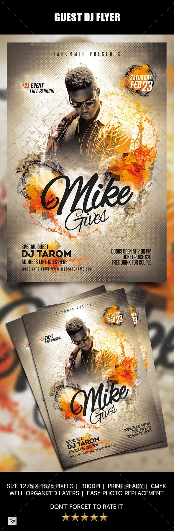 GraphicRiver Guest DJ Flyer 21175636