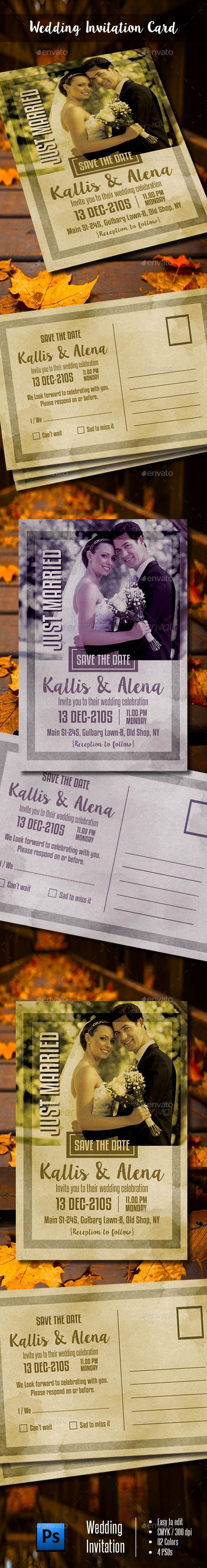GraphicRiver Wedding Invitation Template 21184772