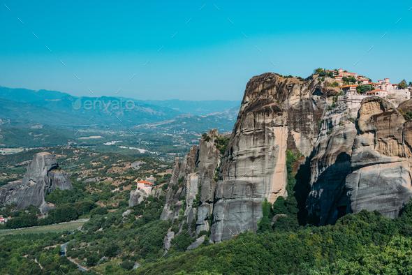Meteora monasteries, Greece - Stock Photo - Images