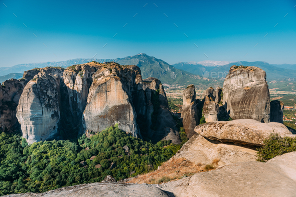 Meteora rocks, Greece - Stock Photo - Images