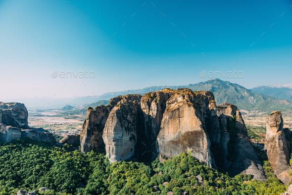 Meteora rocks, Greece - Stock Photo - Images