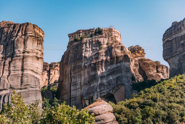 Varlaam monastery, Meteora, Greece - Stock Photo - Images