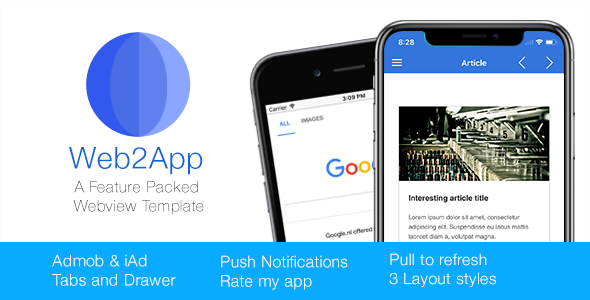 Web2App for IOS - Quickest Feature-Rich IOS Webview - CodeCanyon Item for Sale