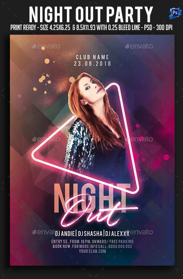 Night Out Party Flyer - Clubs & Parties Events