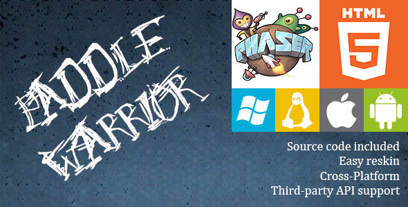 Paddle Warrior - HTML5 Game - Phaser - CodeCanyon Item for Sale
