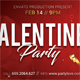 Valentines Party Event Ticket - GraphicRiver Item for Sale