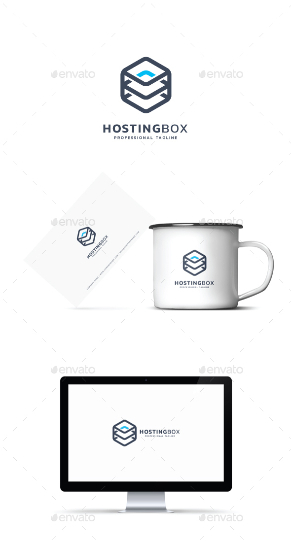 GraphicRiver Hosting Box Logo 21185065