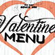 Valentines Day Menu