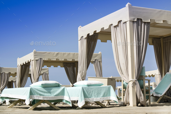 Versilia luxury beach - Stock Photo - Images