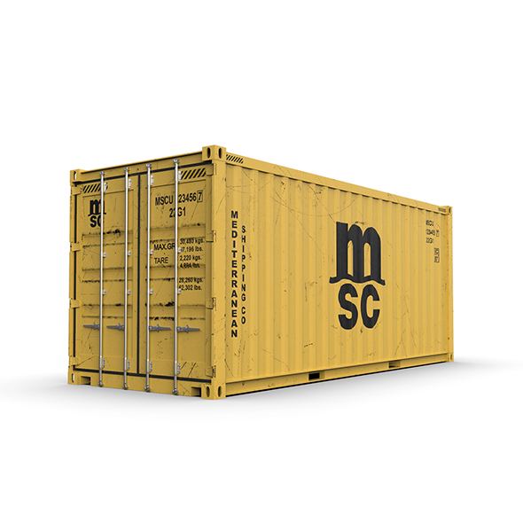 20 feet MSC standard shipping container - 3DOcean Item for Sale