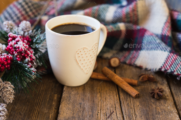 Warm blanket winter atmosphere - Stock Photo - Images