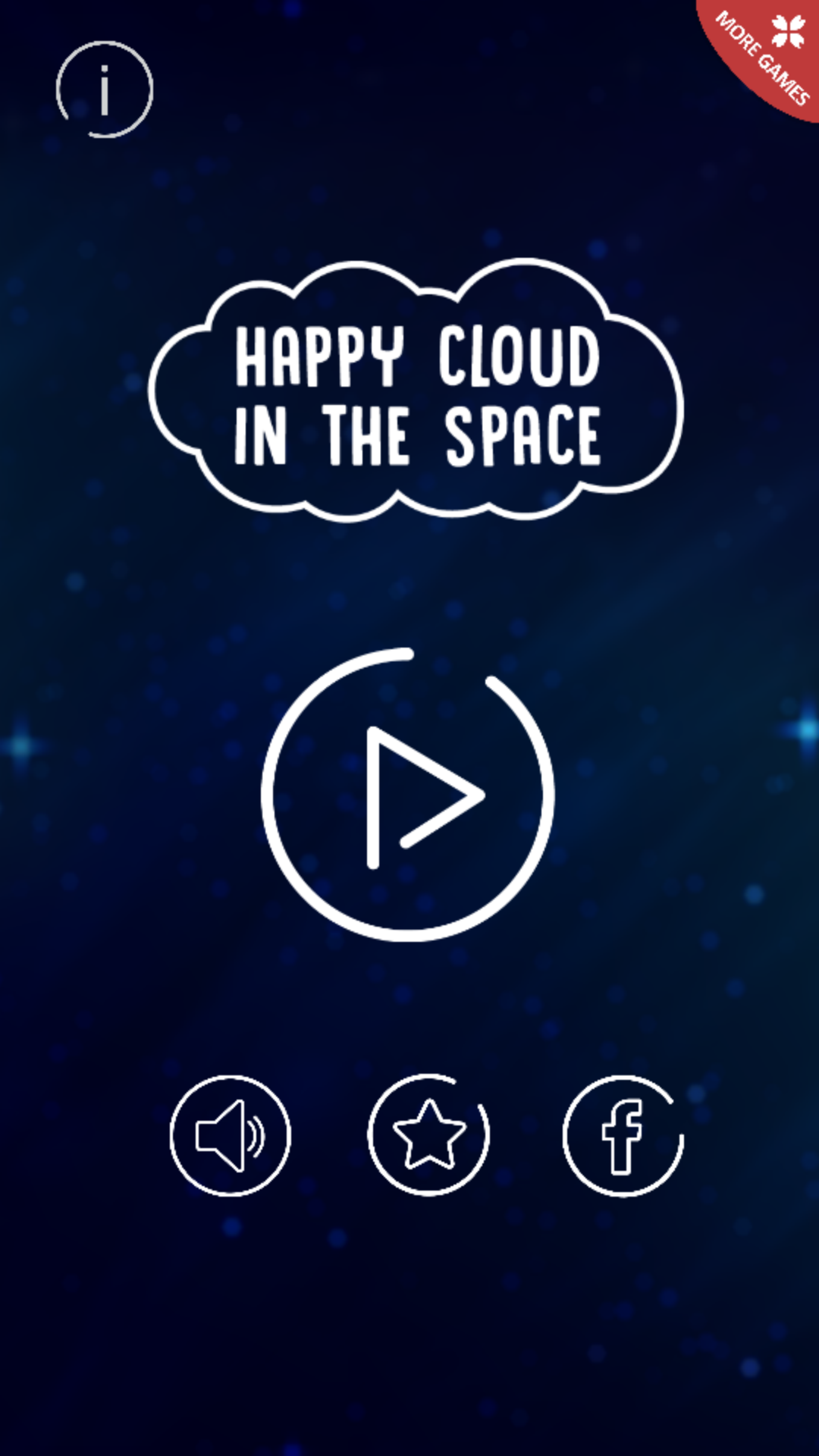 Happy Cloud In The Space - IOS XCODE Source + Buildbox Template