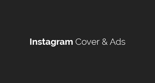 Instagram Cover & Ads