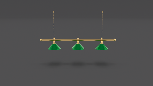 Pool Table Light Fixture - 3DOcean Item for Sale