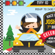Race Car Birthday Invitation - GraphicRiver Item for Sale