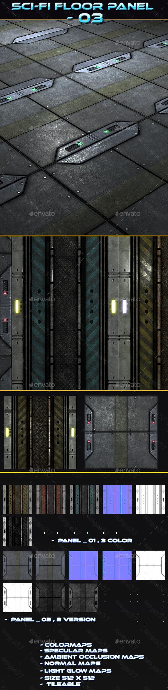 Sci-fi Floor Panel 03