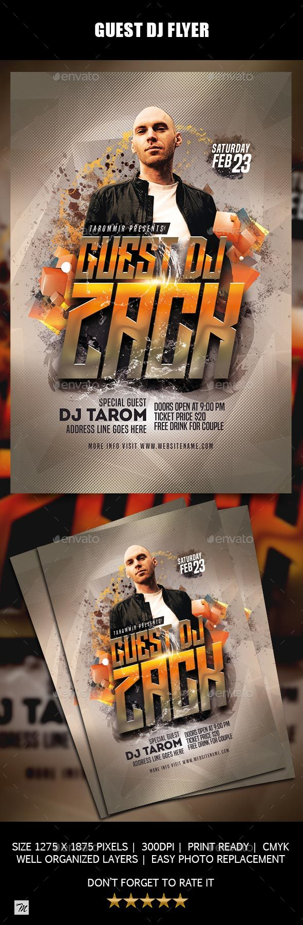 GraphicRiver Guest DJ Flyer 21186268
