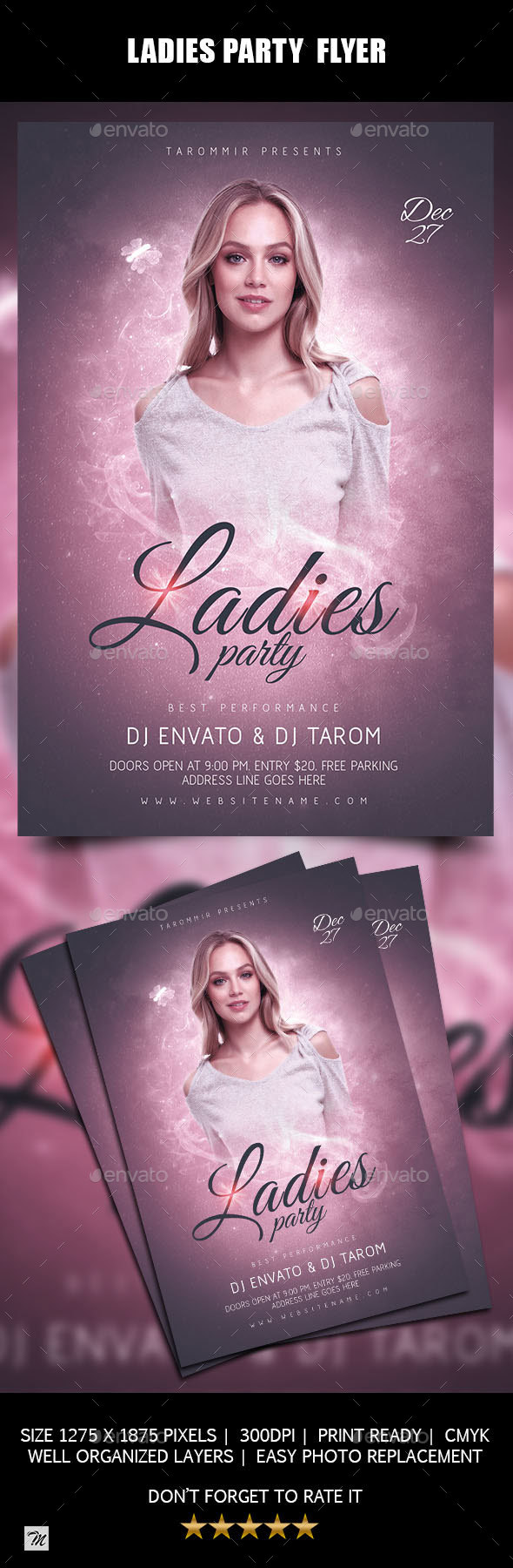 Ladies Party Flyer - Clubs & Parties Events