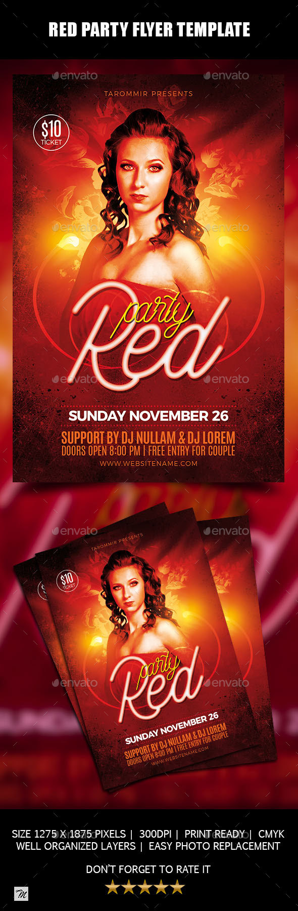 Red Party Flyer - Clubs & Parties Events