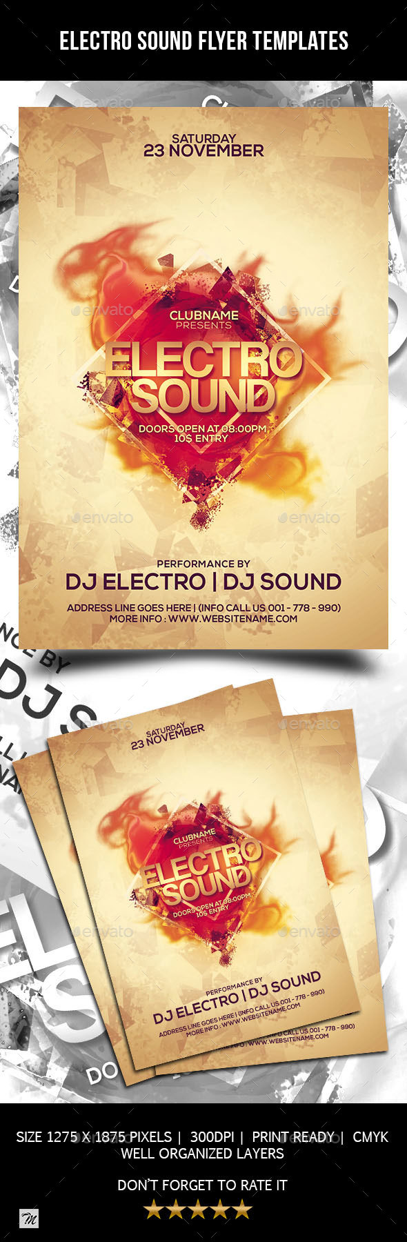 Electro Sound Flyer Templates - Clubs & Parties Events