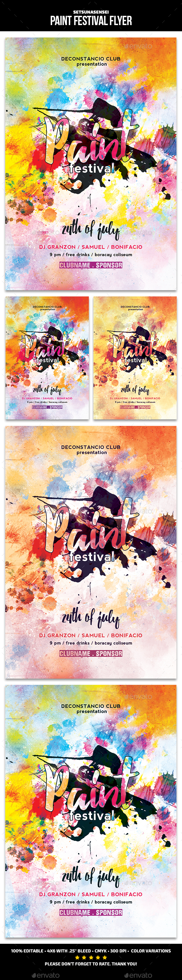 GraphicRiver Paint Festival Flyer 21186293