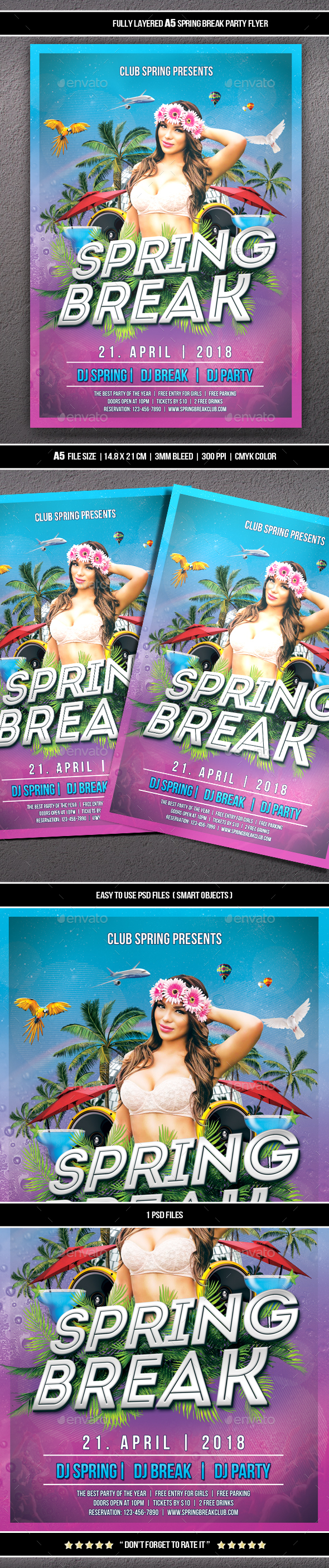 GraphicRiver Spring Party Flyer 21186320