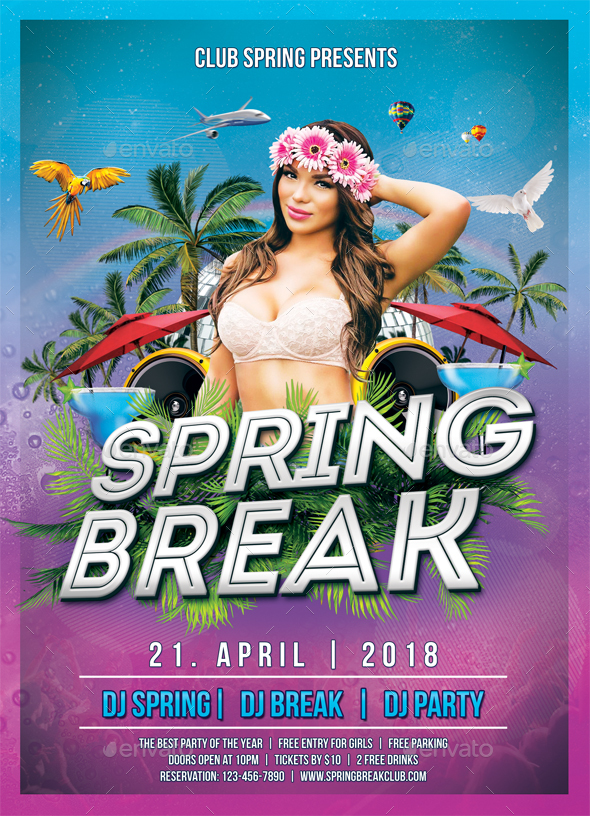 Spring Party Flyer By Mograsol  Graphicriver