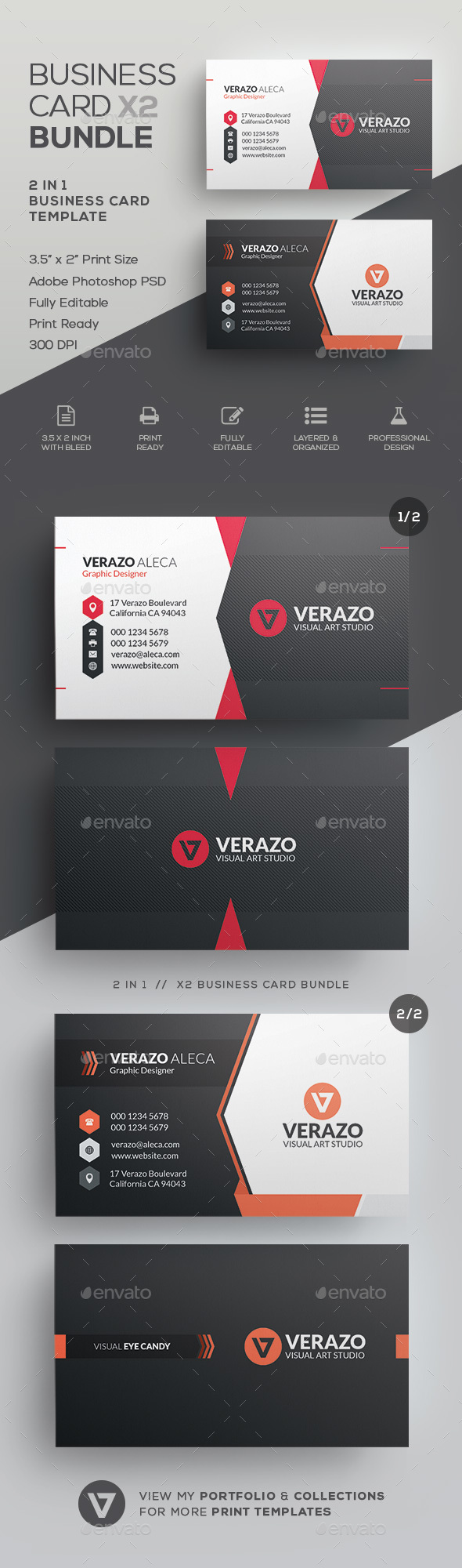 GraphicRiver Business Card Bundle 46 21186335