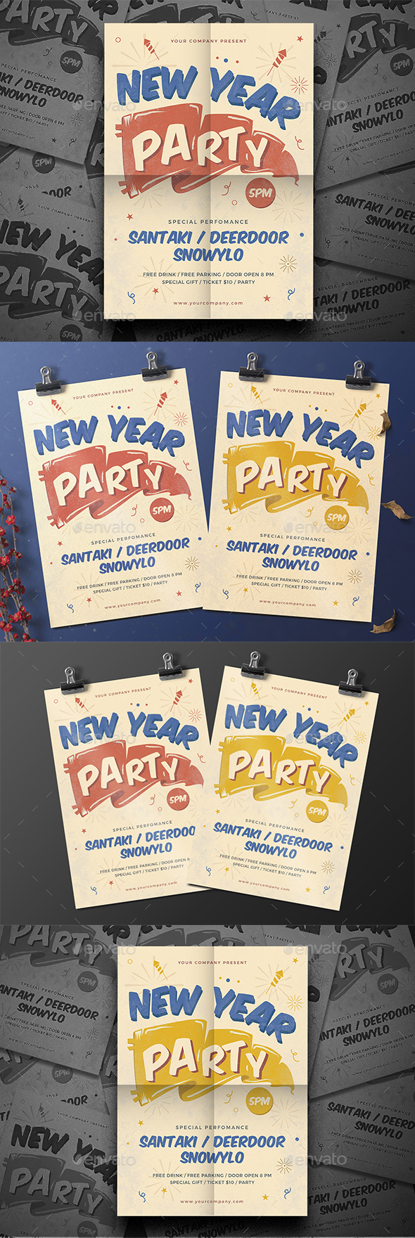 GraphicRiver New Year Party Flyer 21186350