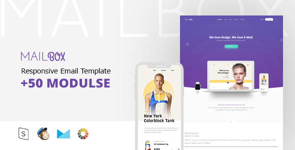 ThemeForest Mail Box Responsive Email & StampReady Builder 21186451