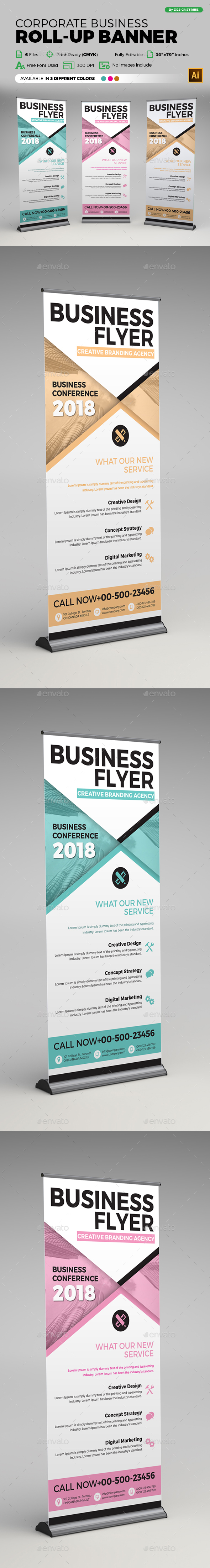 GraphicRiver Corporate Business Roll-up Banner 21186686