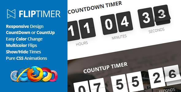 FlipTimer - jQuery Countdown Timer - CodeCanyon Item for Sale