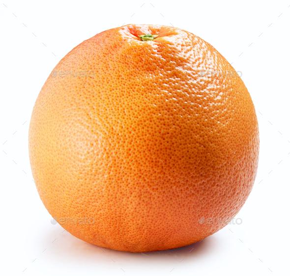 fresh grapefruit isolated on white background - Stock Photo - Images