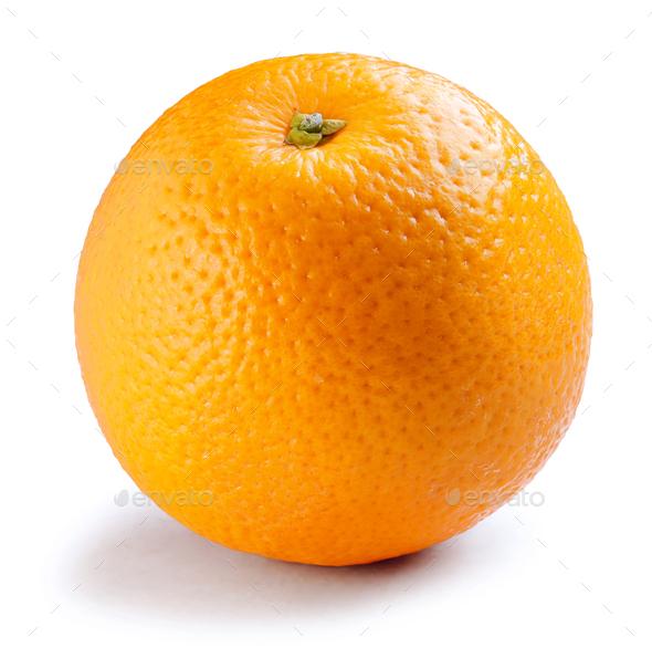fresh orange isolated on white background - Stock Photo - Images