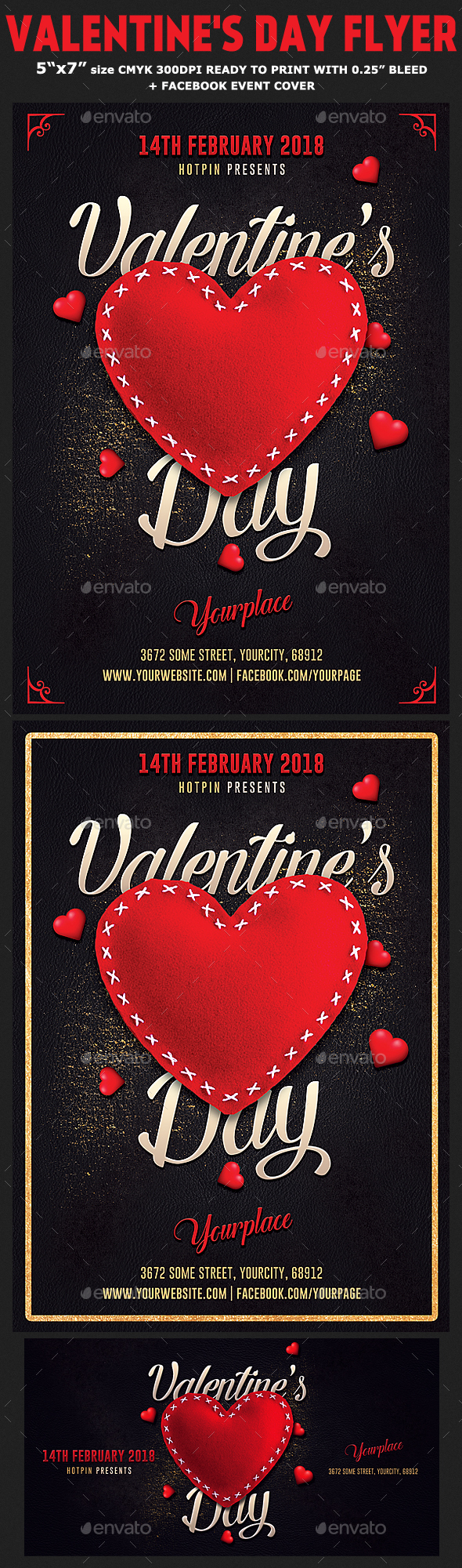 Valentines Day Flyer Invitation Template By Hotpin GraphicRiver - Valentine's day invitation template