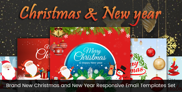 Brand New Christmas and New Year Responsive Email Templates Set - Email Templates Marketing