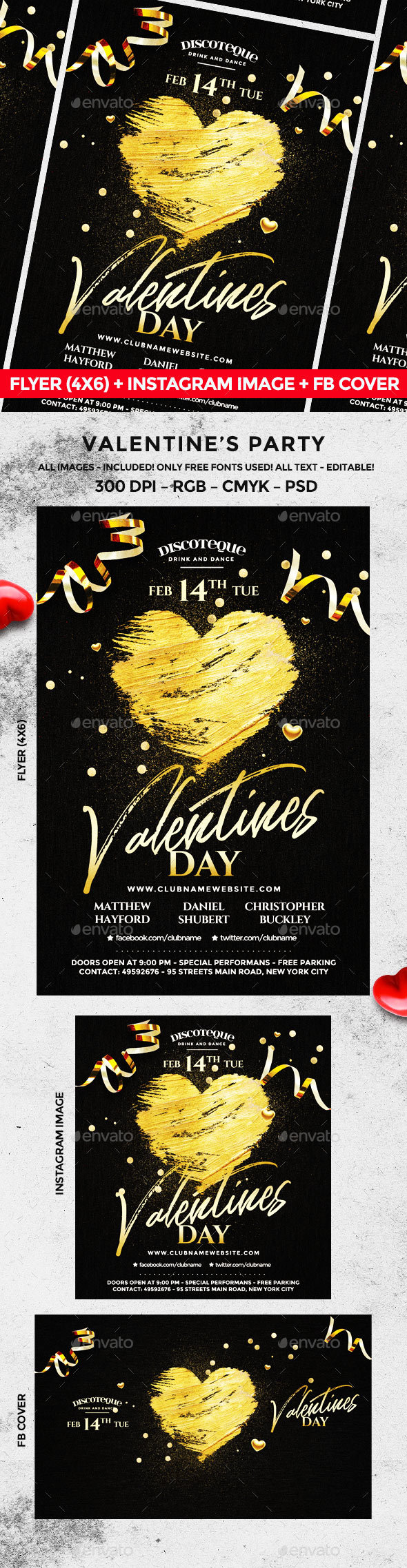 Valentine Flyer - Holidays Events
