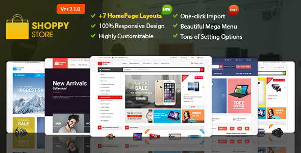 Shoppy Store - Responsive Magento 2 and 1.9 Theme