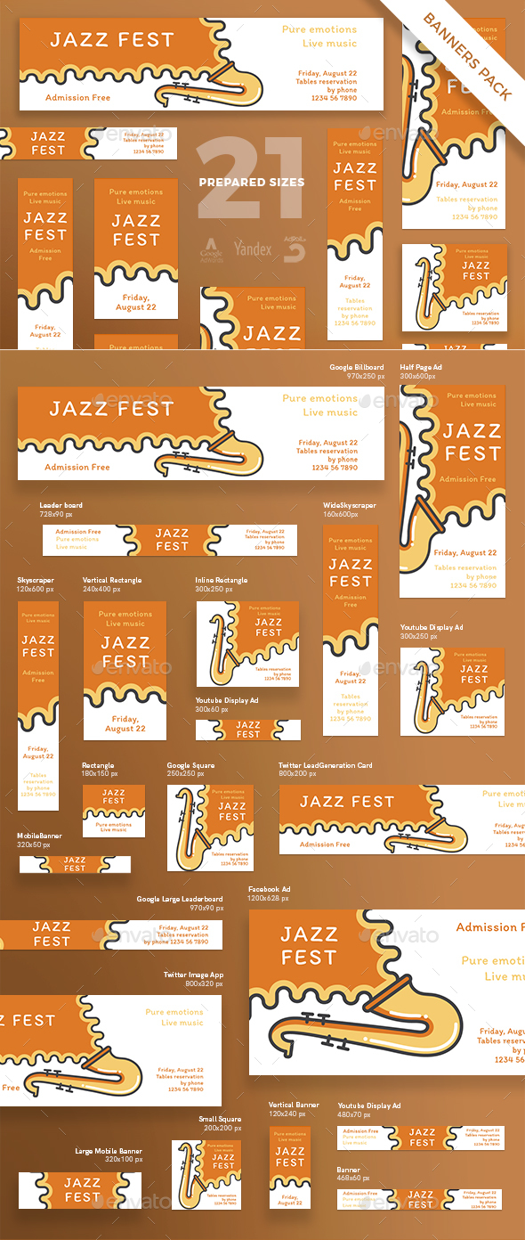 GraphicRiver Jazz Festival Banner Pack 21186968