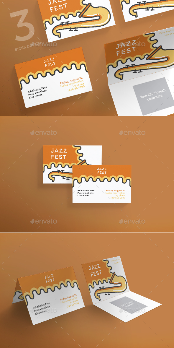 GraphicRiver Jazz Festival Business Card 21186971