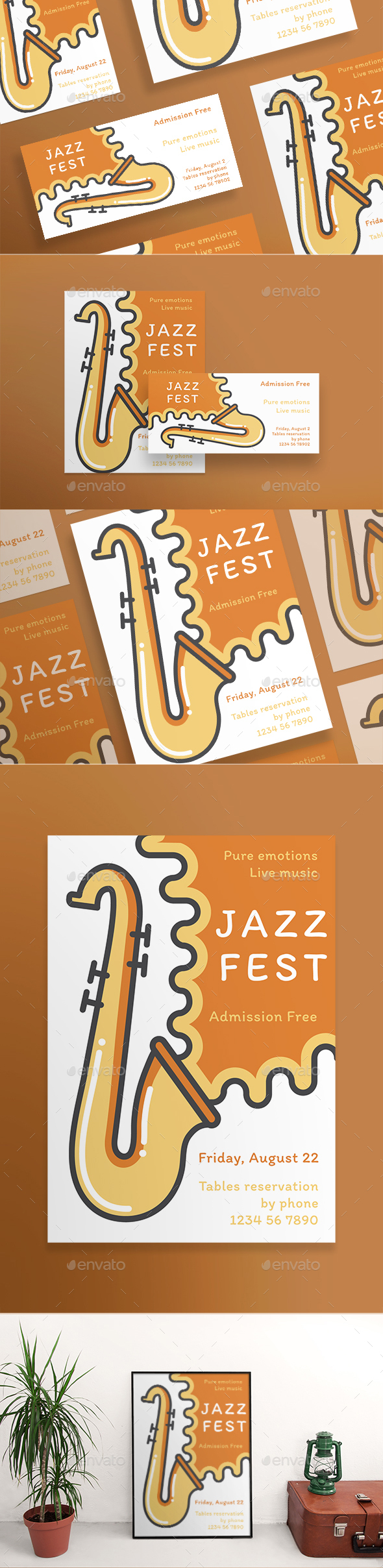 GraphicRiver Jazz Festival Flyers 21186975