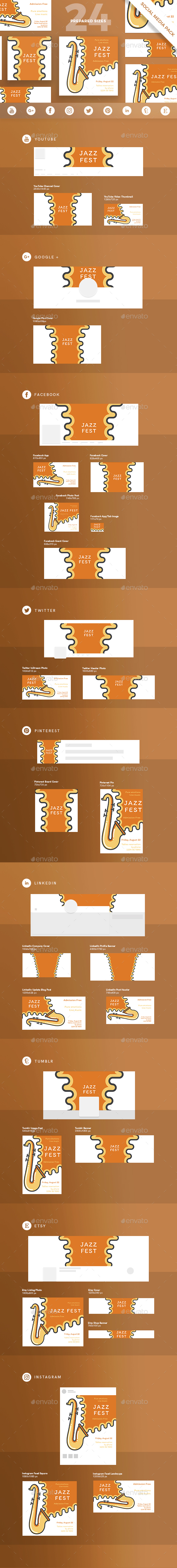 GraphicRiver Jazz Festival Social Media Pack 21186980