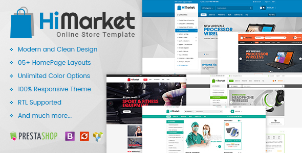 HiMarket - Multipurpose Responsive Prestashop 1.6 and 1.7 Mega Shop Theme - Shopping PrestaShop